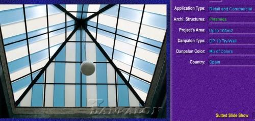 Luminatoare tip piramida, din placi de policarbonat TRY WALL DANPALON - Poza 11