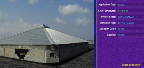 Luminatoare tip piramida, din placi de policarbonat TRY WALL DANPALON - Poza 12