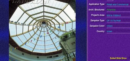 Luminatoare tip piramida, din placi de policarbonat TRY WALL DANPALON - Poza 16