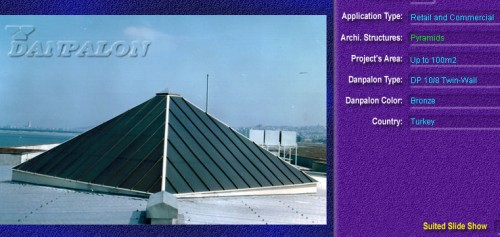 Luminatoare tip piramida, din placi de policarbonat TWIN WALL DANPALON - Poza 1