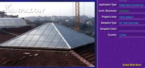 Luminatoare tip piramida, din placi de policarbonat TWIN WALL DANPALON - Poza 4