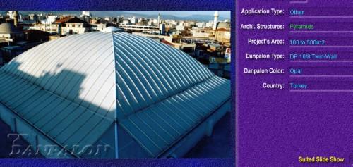 Luminatoare tip piramida, din placi de policarbonat TWIN WALL DANPALON - Poza 5