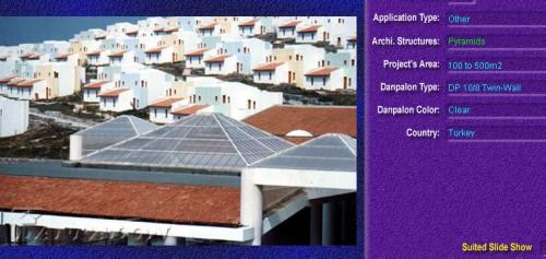 Luminatoare tip piramida, din placi de policarbonat TWIN WALL DANPALON - Poza 6