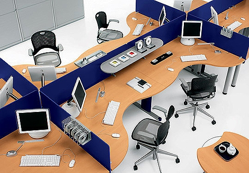 Mobilier pentru birouri operative DELLA VALENTINA OFFICE - Poza 4