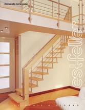 Scari interioare drepte si balansate din lemn ESTFELLER