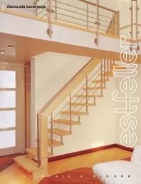 Scari interioare drepte si balansate din lemn