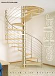 Scari interioare elicoidale din lemn ESTFELLER - TREND Spirala