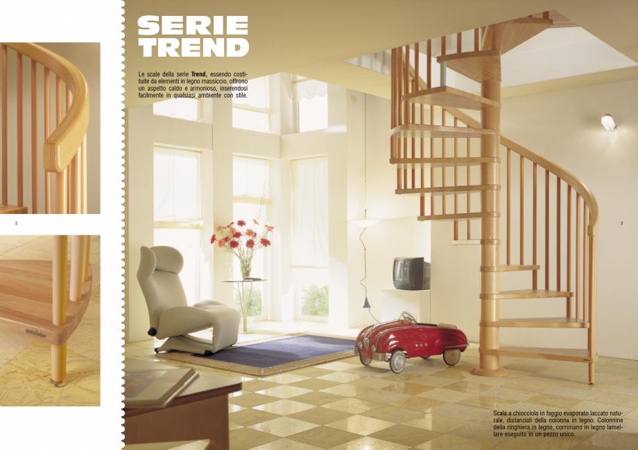 Pagina 2 - Scari interioare elicoidale din lemn ESTFELLER TREND Spirala Catalog, brosura Italiana...