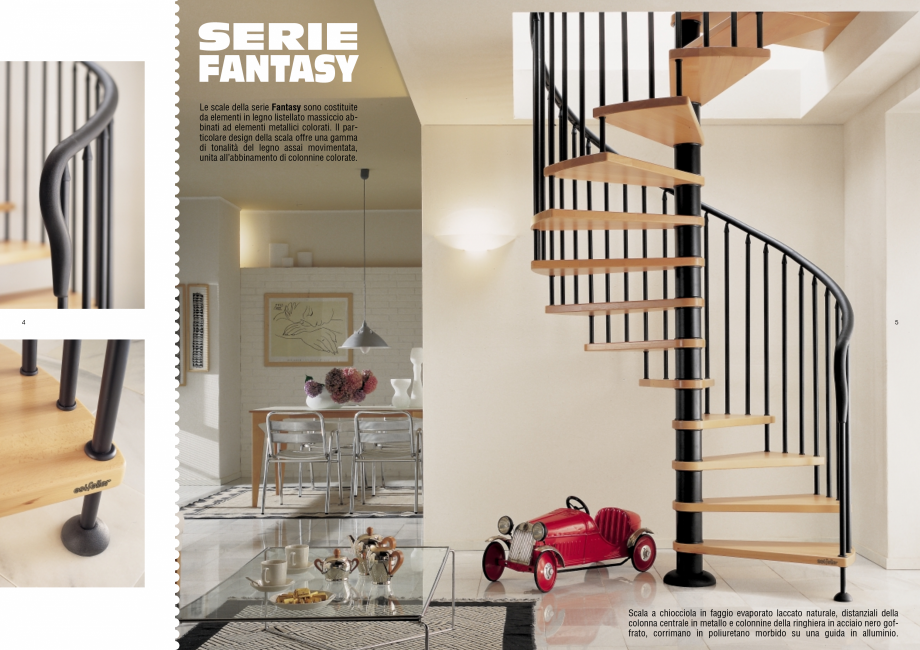 Pagina 3 - Scari interioare elicoidale din lemn ESTFELLER TREND Spirala Catalog, brosura Italiana a ...