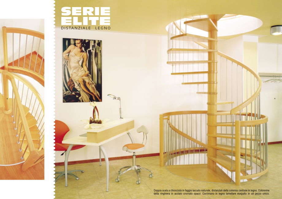 Pagina 5 - Scari interioare elicoidale din lemn ESTFELLER TREND Spirala Catalog, brosura Italiana ...