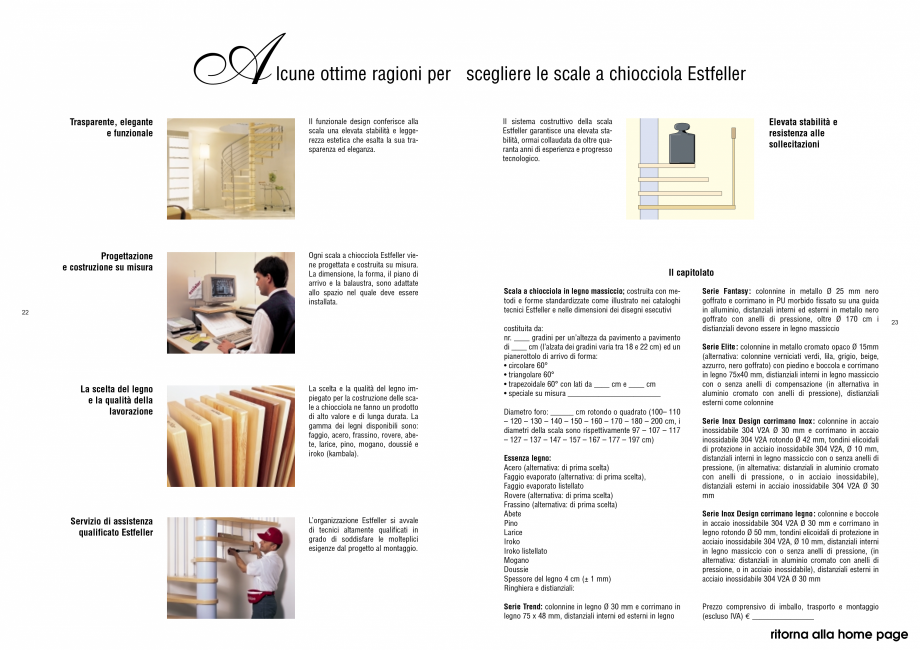 Pagina 12 - Scari interioare elicoidale din lemn ESTFELLER TREND Spirala Catalog, brosura Italiana