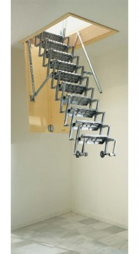 Exemple de utilizare Scari retractabile metalice GEOCOM TRADING&CONSULTING - Poza 8