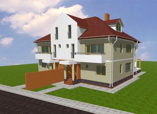 Lucrari, proiecte Doua locuinte cuplate P+2, Otopeni  - Poza 3