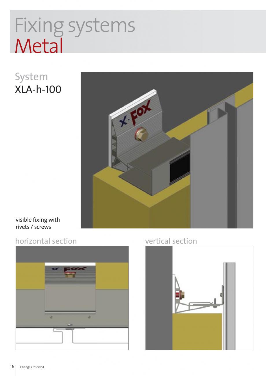 Pagina 16 - Sisteme de fixare si ancorare a fatadelor EUROFOX MacFOX, X-FOX Fisa tehnica Engleza s ...
