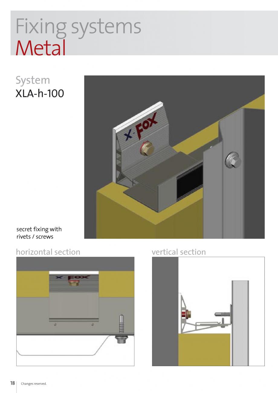 Pagina 18 - Sisteme de fixare si ancorare a fatadelor EUROFOX MacFOX, X-FOX Fisa tehnica Engleza...