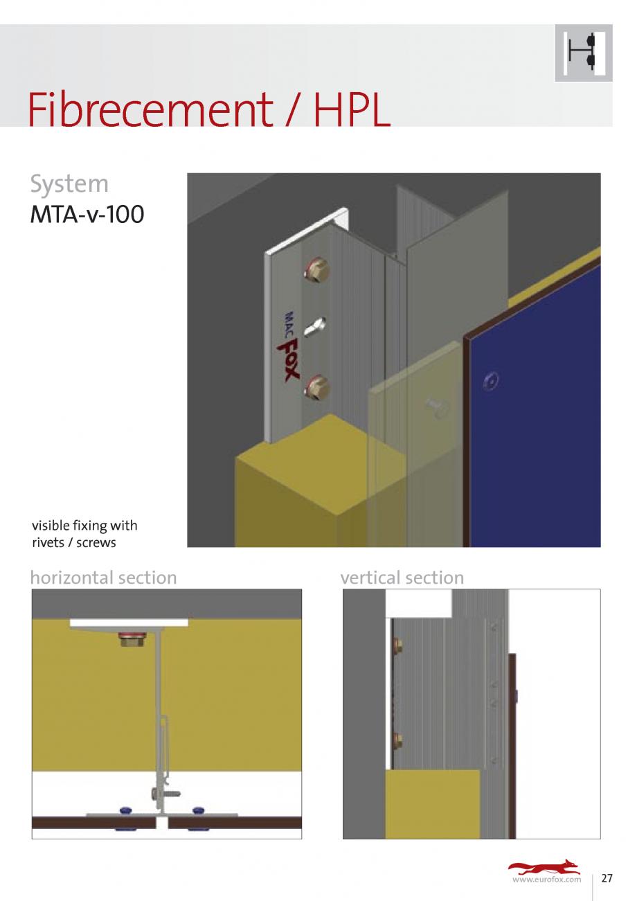 Pagina 27 - Sisteme de fixare si ancorare a fatadelor EUROFOX MacFOX, X-FOX Fisa tehnica Engleza