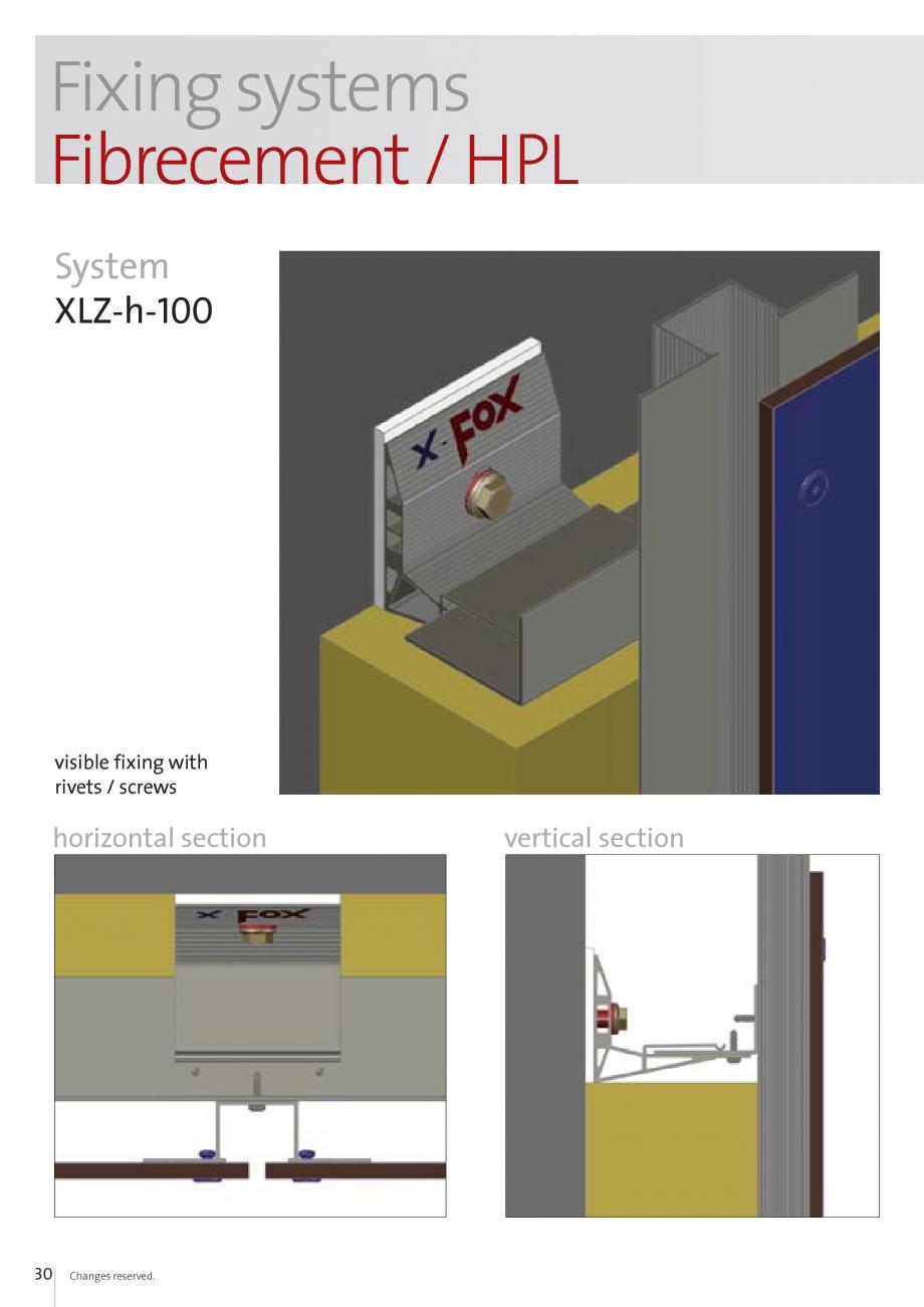 Pagina 30 - Sisteme de fixare si ancorare a fatadelor EUROFOX MacFOX, X-FOX Fisa tehnica Engleza