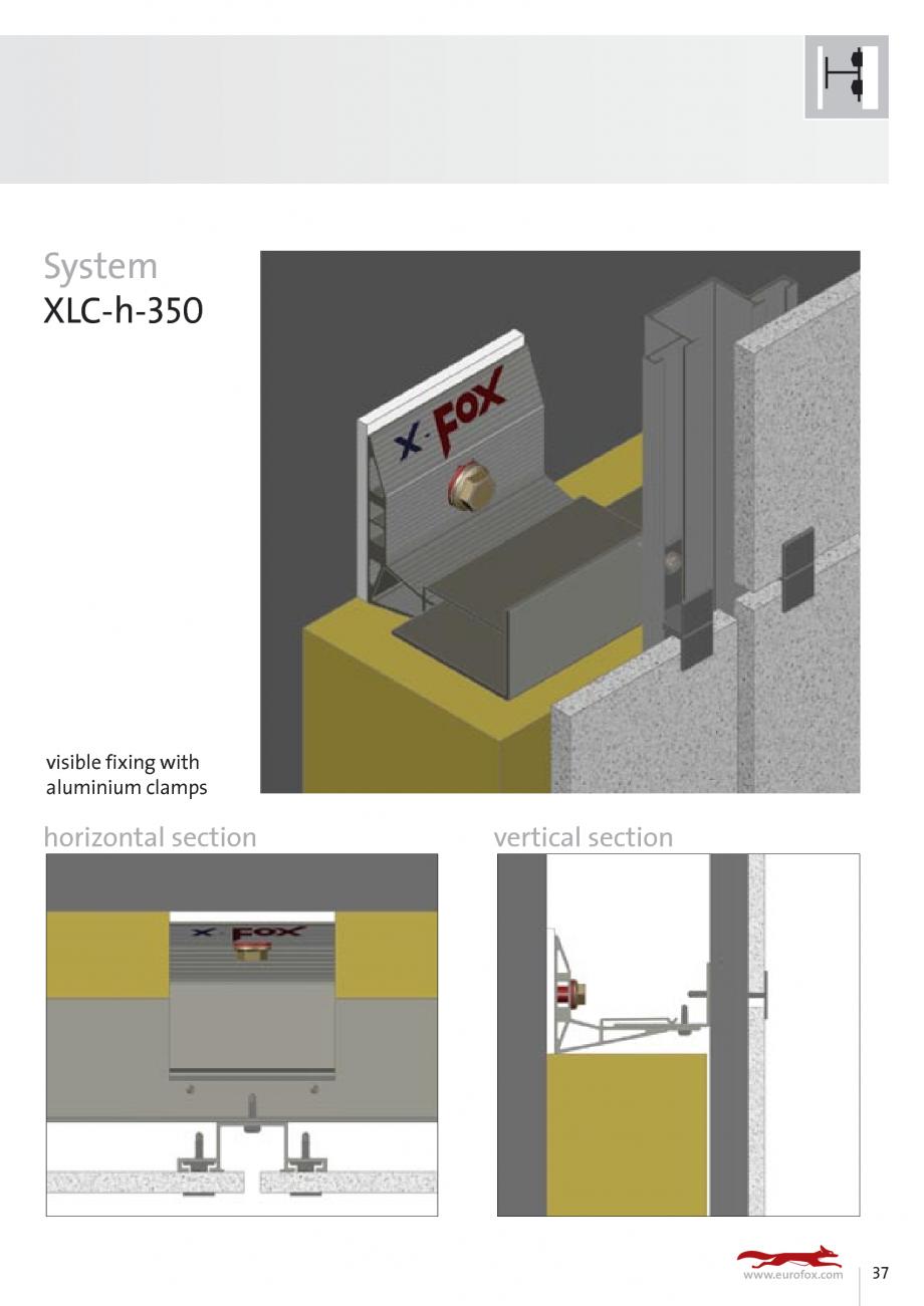 Pagina 37 - Sisteme de fixare si ancorare a fatadelor EUROFOX MacFOX, X-FOX Fisa tehnica Engleza