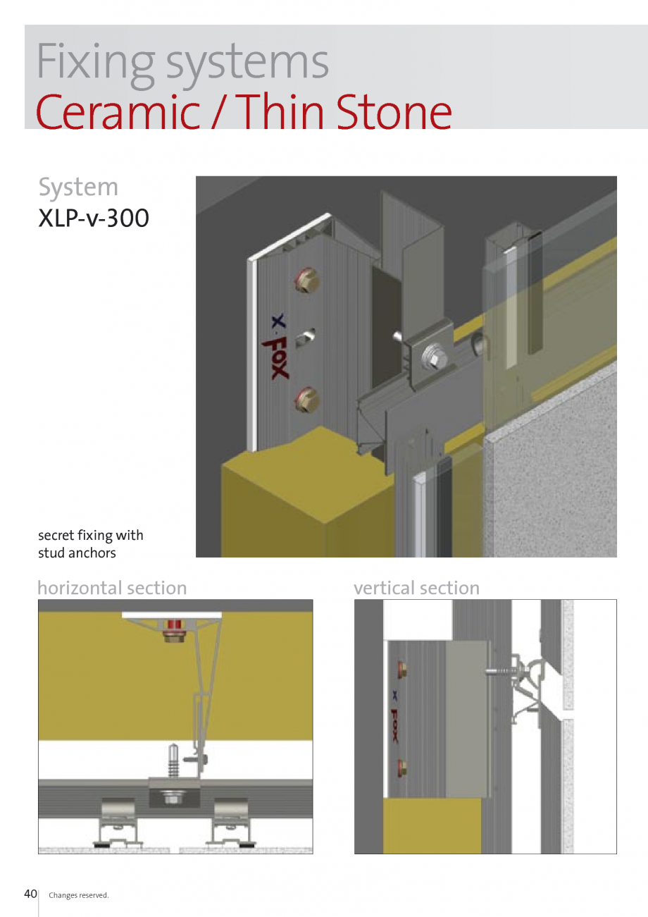 Pagina 40 - Sisteme de fixare si ancorare a fatadelor EUROFOX MacFOX, X-FOX Fisa tehnica Engleza