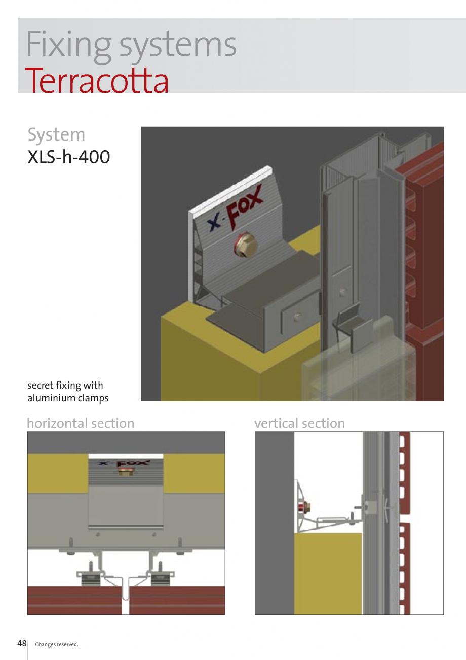 Pagina 48 - Sisteme de fixare si ancorare a fatadelor EUROFOX MacFOX, X-FOX Fisa tehnica Engleza