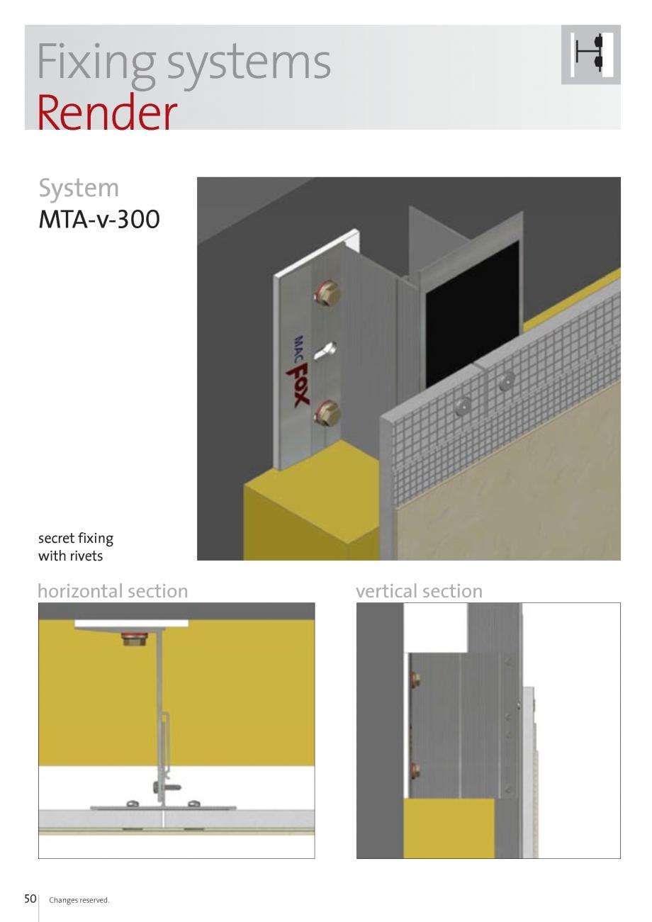 Pagina 50 - Sisteme de fixare si ancorare a fatadelor EUROFOX MacFOX, X-FOX Fisa tehnica Engleza