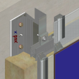 Sistem de fixare Placaje HPL - XLP-v-300 HPL TRESPA - VIRTUON, METEON, ATHLON