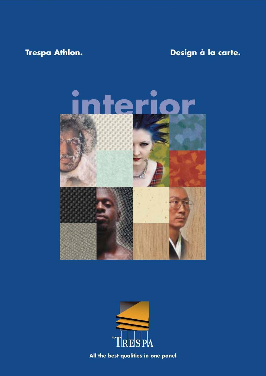 Pagina 1 - Placaje HPL pentru interior TRESPA ATHLON Catalog, brosura Engleza EBSITE VISIT OUR W PA....