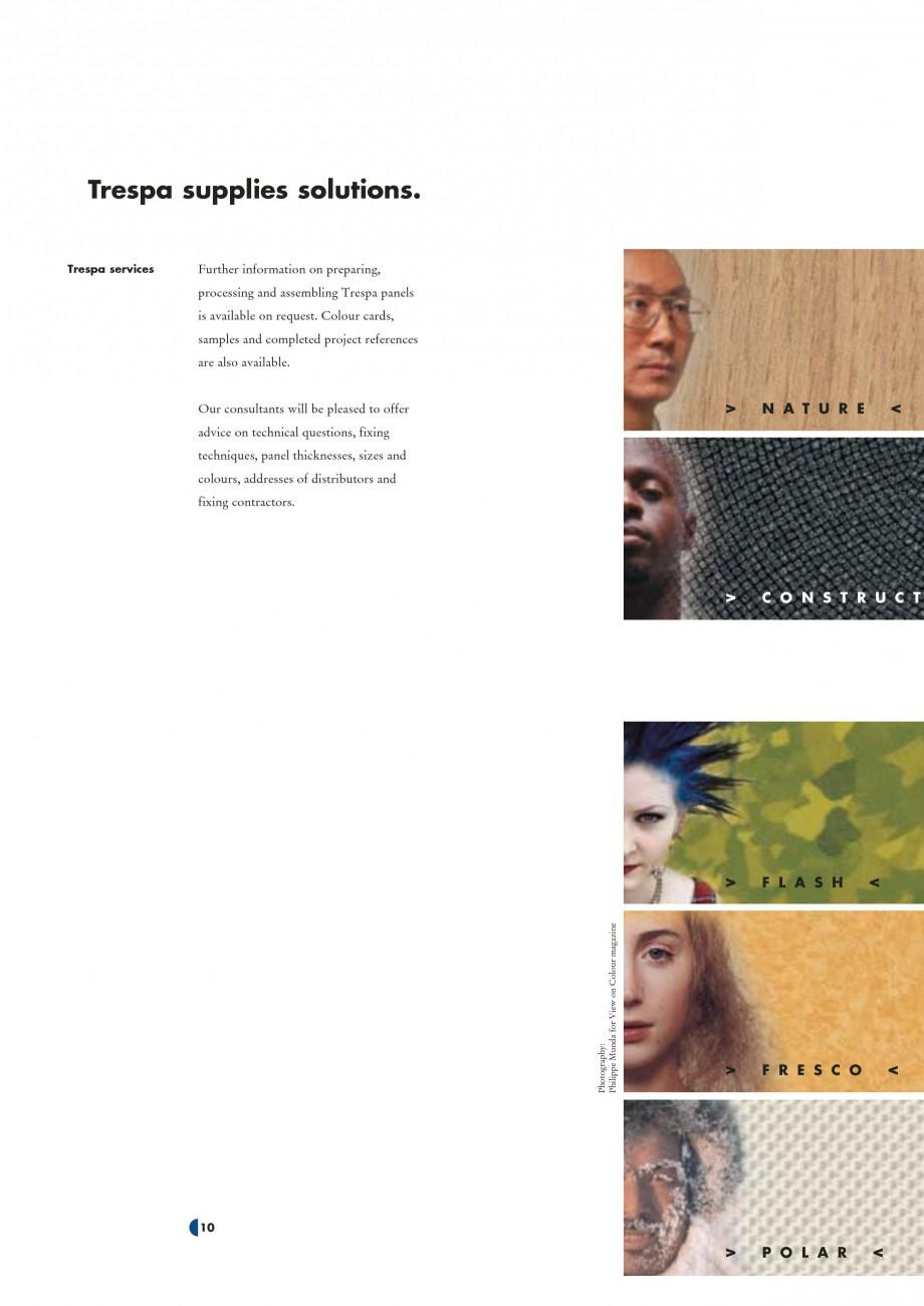 Pagina 12 - Placaje HPL pentru interior TRESPA ATHLON Catalog, brosura Engleza ....... Name: ..........