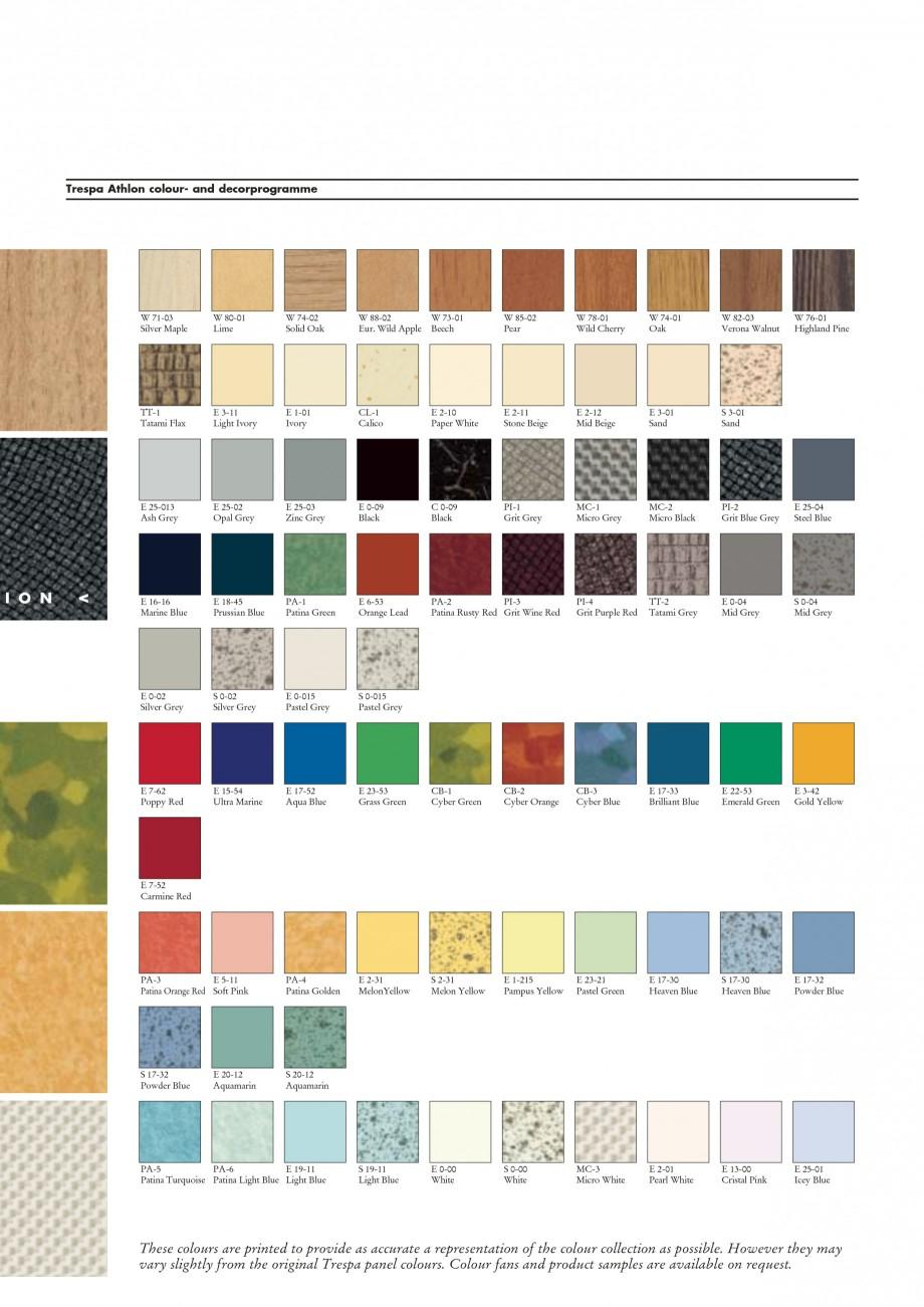 Pagina 13 - Placaje HPL pentru interior TRESPA ATHLON Catalog, brosura Engleza ........................