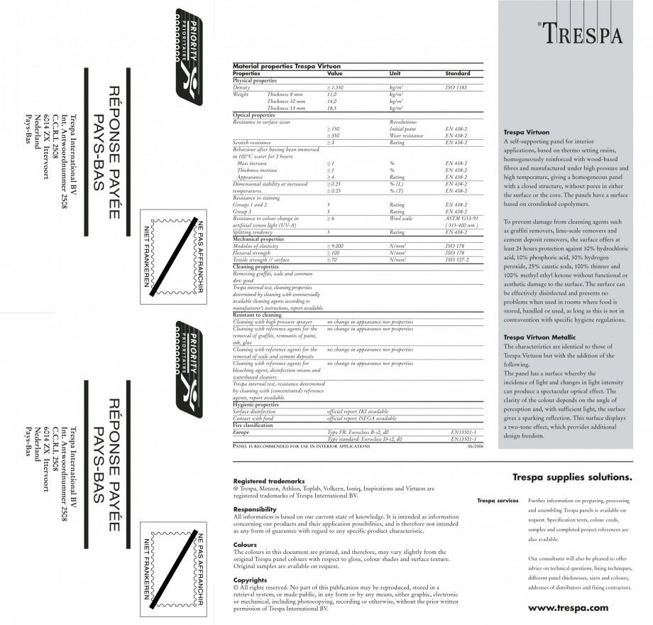 Pagina 19 - Placaje HPL pentru interior TRESPA VIRTUON Catalog, brosura Engleza al design freedom.  ...