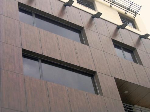 Lucrari, proiecte Placaje HPL pentru fatade - Cladire birouri Bucuresti Str.Brosteanu TRESPA - Poza 2