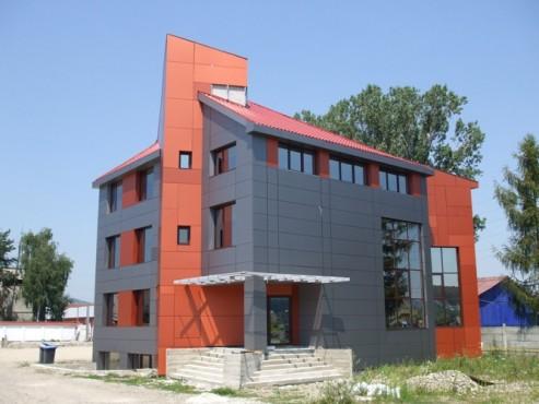 Lucrari, proiecte Placaje HPL pentru fatade - Sediu firma FILADELFIA Bistrita TRESPA - Poza 4