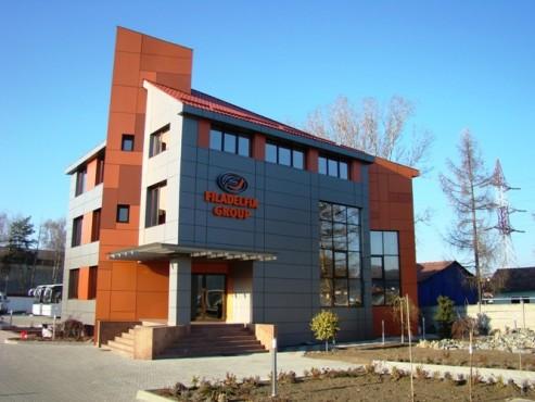 Lucrari, proiecte Placaje HPL pentru fatade - Sediu firma FILADELFIA Bistrita TRESPA - Poza 5