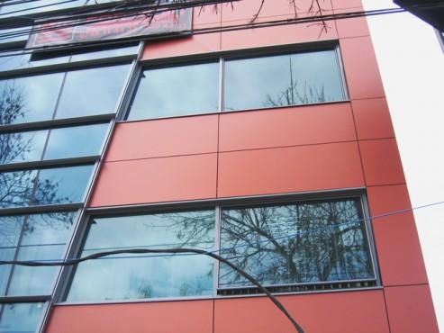 Lucrari, proiecte Placaje HPL pentru fatade - Sediu firma Bucuresti, calea Floreasca TRESPA - Poza 1