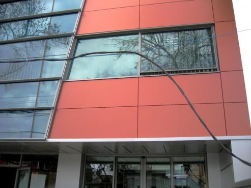 Lucrari, proiecte Placaje HPL pentru fatade - Sediu firma Bucuresti, calea Floreasca TRESPA - Poza 2