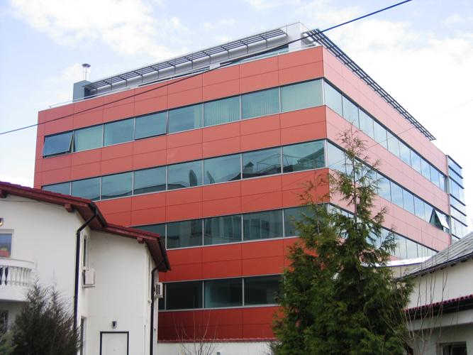 Placaje HPL pentru fatade - Sediu firma Bucuresti, calea Floreasca TRESPA - Poza 3