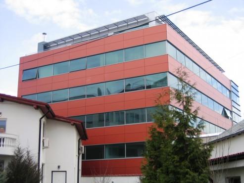 Lucrari, proiecte Placaje HPL pentru fatade - Sediu firma Bucuresti, calea Floreasca TRESPA - Poza 3