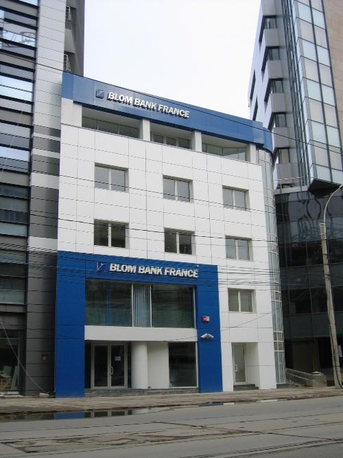 Placaje HPL pentru fatade - Banca BLOM Bank Bucuresti TRESPA - Poza 1