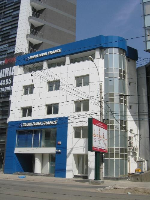 Placaje HPL pentru fatade - Banca BLOM Bank Bucuresti TRESPA - Poza 2
