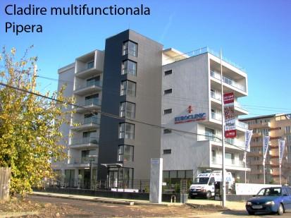 Cladire multifunctionala Pipera ATHLON, METEON, VIRTUON Placaje HPL pentru fatade si pereti - lucrari Romania