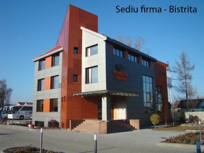 Sediu firma Bistrita ATHLON, METEON, VIRTUON Placaje HPL pentru fatade si pereti - lucrari Romania