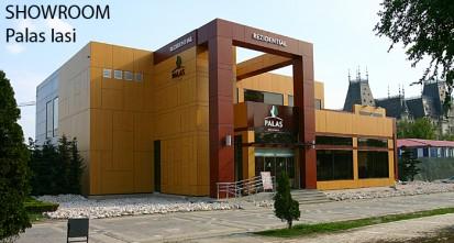 SHOWROOM Palas Iasi ATHLON, METEON, VIRTUON Placaje HPL pentru fatade si pereti - lucrari Romania