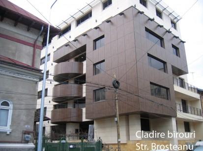 Cladire birouri str Brosteanu ATHLON, METEON, VIRTUON Placaje HPL pentru fatade si pereti - lucrari Romania