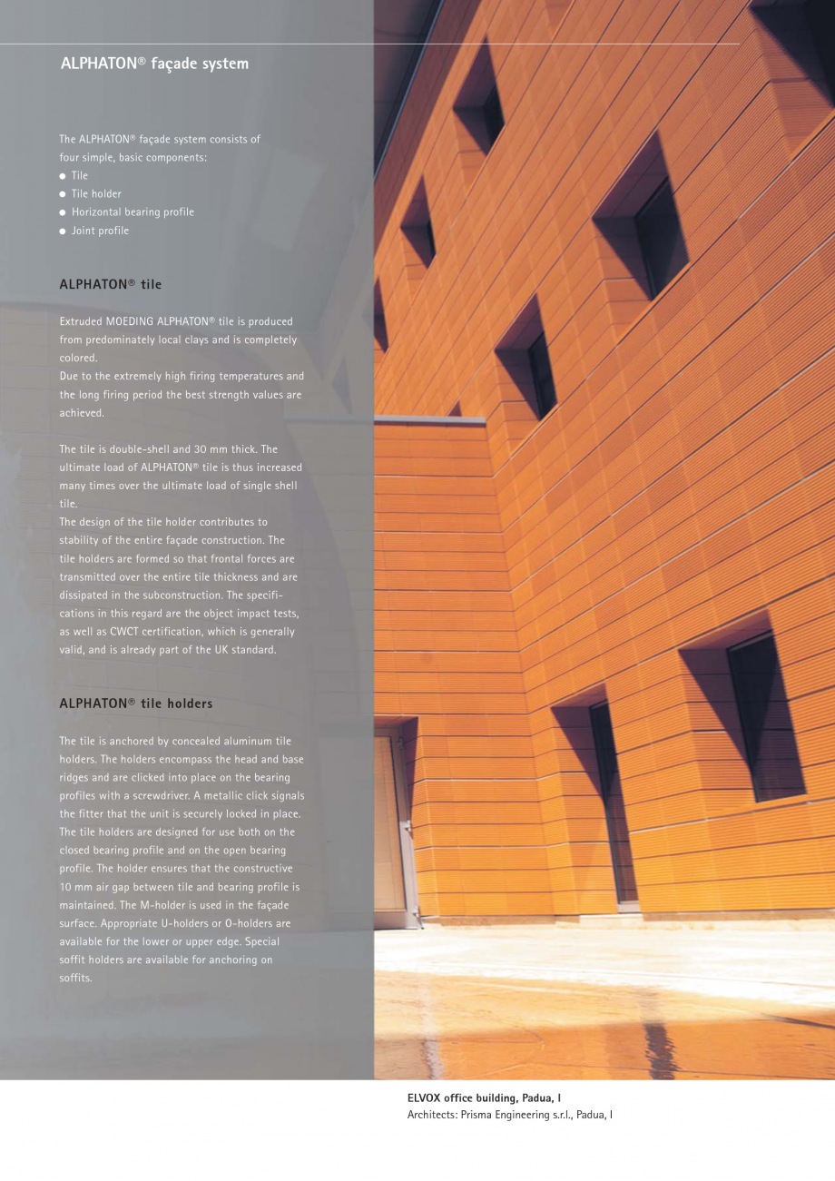 Pagina 7 - Catalog, brosura Placi ceramice (teracota) pentru fatade ALPHATON MOEDING Panouri...