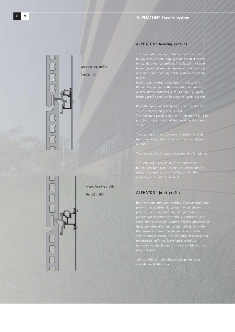 Pagina 8 - Catalog, brosura Placi ceramice (teracota) pentru fatade ALPHATON MOEDING Panouri...