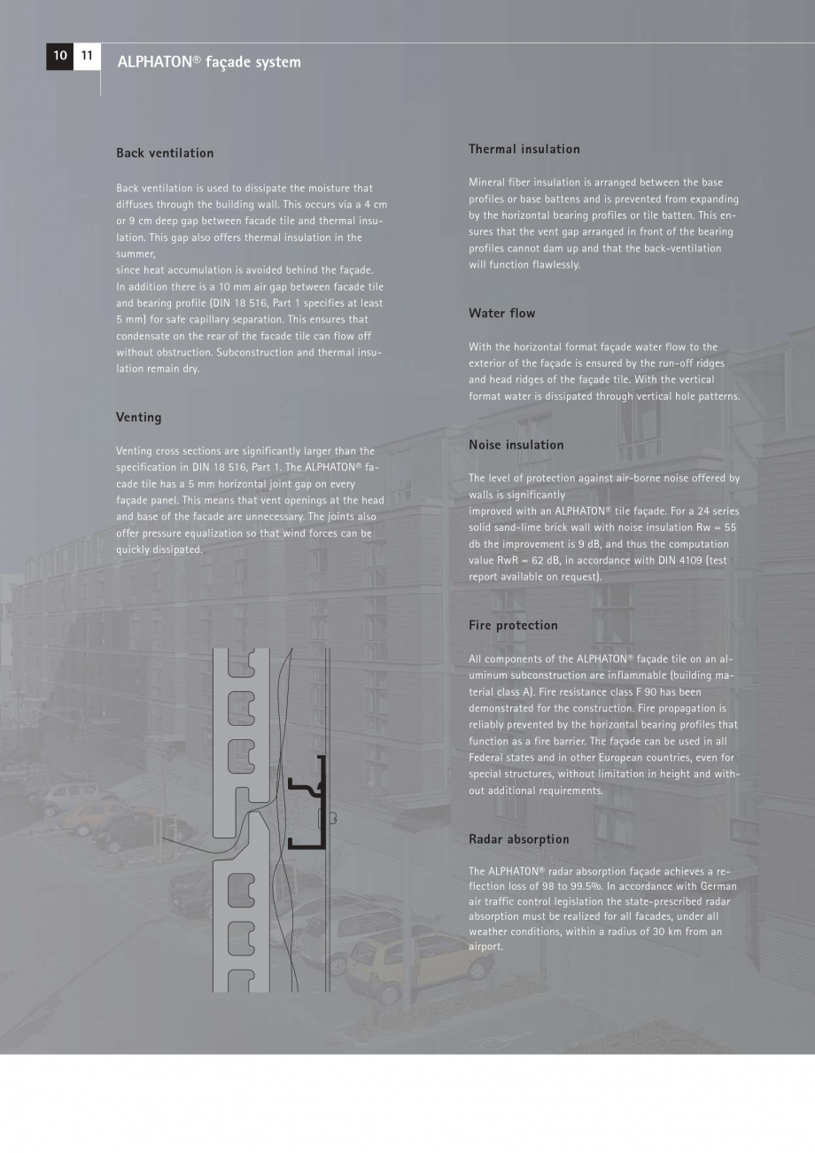 Pagina 10 - Catalog, brosura Placi ceramice (teracota) pentru fatade ALPHATON MOEDING Panouri...