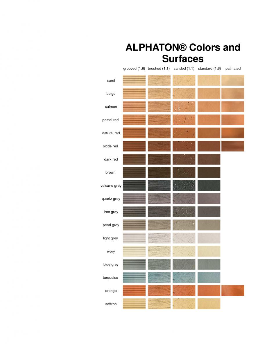 Pagina 1 - Paletar pentru placi ceramice (teracota) pentru fatade  MOEDING ALPHATON Catalog, brosura...