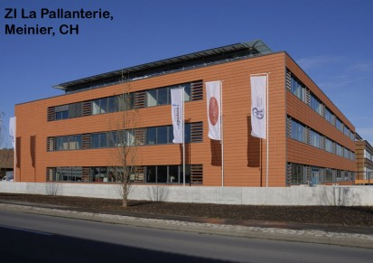 ZI La Pallanterie, Meinier, CH ALPHATON, LONGOTON Placari ceramice pentru fatade - International