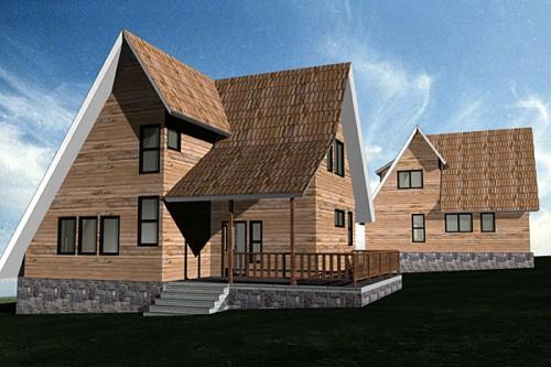 Lucrari, proiecte Casa de vacanta gemene P+M, Fundata  - Poza 1