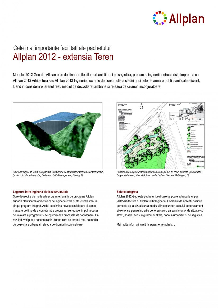 Pagina 1 - Program conex de proiectare NEMETSCHEK Allplan Teren Fisa tehnica Romana Allplan 2012 -...